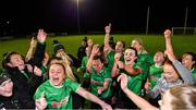 21 November 2020; Peamount United players celebrate winning the Women's National League following their victory over Shelbourne at PRL Park in Greenogue, Dublin. Photo by Seb Daly/Sportsfile