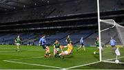 21 November 2020; Dean Rock of Dublin shoots to score his side's first goal during the Leinster GAA Football Senior Championship Final match between Dublin and Meath at Croke Park in Dublin. Photo by Ramsey Cardy/Sportsfile