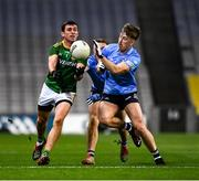 21 November 2020; Shane McEntee of Meath in action against Seán Bugler of Dublin during the Leinster GAA Football Senior Championship Final match between Dublin and Meath at Croke Park in Dublin. Photo by Ray McManus/Sportsfile