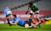 21 November 2020; Dean Rock of Dublin in action against Shane McEntee of Meath during the Leinster GAA Football Senior Championship Final match between Dublin and Meath at Croke Park in Dublin. Photo by Stephen McCarthy/Sportsfile