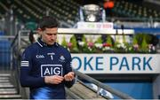 21 November 2020; Dublin captain Stephen Cluxton after lifiting the Delaney Cup following the Leinster GAA Football Senior Championship Final match between Dublin and Meath at Croke Park in Dublin. Photo by Stephen McCarthy/Sportsfile