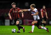 20 November 2020; Conor Levingston of Bohemians and Greg Sloggett of Dundalk during the Extra.ie FAI Cup Quarter-Final match between Bohemians and Dundalk at Dalymount Park in Dublin. Photo by Ben McShane/Sportsfile