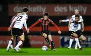 20 November 2020; Dawson Devoy of Bohemians in action against Stefan Colovic, left, and Sean Gannon of Dundalk during the Extra.ie FAI Cup Quarter-Final match between Bohemians and Dundalk at Dalymount Park in Dublin. Photo by Ben McShane/Sportsfile