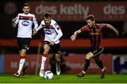 20 November 2020; Stefan Colovic of Dundalk and Conor Levingston of Bohemians during the Extra.ie FAI Cup Quarter-Final match between Bohemians and Dundalk at Dalymount Park in Dublin. Photo by Ben McShane/Sportsfile