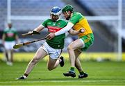 22 November 2020; Brian Morley of Mayo in action against Stephen Gillespie of Donegal during the Nickey Rackard Cup Final match between Donegal and Mayo at Croke Park in Dublin. Photo by Piaras Ó Mídheach/Sportsfile