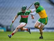 22 November 2020; Eoin Delaney of Mayo in action against Stephen Gillespie of Donegal during the Nickey Rackard Cup Final match between Donegal and Mayo at Croke Park in Dublin. Photo by Piaras Ó Mídheach/Sportsfile