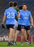 21 November 2020; Eric Lowndes of Dublin, right, and team-mate Paul Mannion after the Leinster GAA Football Senior Championship Final match between Dublin and Meath at Croke Park in Dublin. Photo by Brendan Moran/Sportsfile