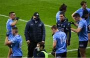 21 November 2020; Dublin captain Stephen Cluxton speaks to players during a water break in the Leinster GAA Football Senior Championship Final match between Dublin and Meath at Croke Park in Dublin. Photo by Ramsey Cardy/Sportsfile