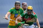 22 November 2020; Danny Cullen of Donegal is tackled by David Kenny of Mayo during the Nickey Rackard Cup Final match between Donegal and Mayo at Croke Park in Dublin. Photo by Piaras Ó Mídheach/Sportsfile