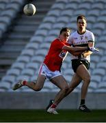 22 November 2020; Liam Casey of Tipperary in action against Sean Meehan of Cork during the Munster GAA Football Senior Championship Final match between Cork and Tipperary at Páirc Uí Chaoimh in Cork. Photo by Ray McManus/Sportsfile
