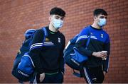 22 November 2020; Oisin Brady, left, and Stephen Smith of Cavan arrive prior to the Ulster GAA Football Senior Championship Final match between Cavan and Donegal at Athletic Grounds in Armagh. Photo by David Fitzgerald/Sportsfile