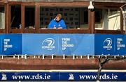 22 November 2020; Leinster Head Coach Leo Cullen in the cooaches box ahead of the Guinness PRO14 match between Leinster and Cardiff Blues at the RDS Arena in Dublin. Photo by Ramsey Cardy/Sportsfile