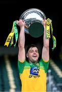 22 November 2020; Donegal captain Seán McVeigh lifts the cup after the Nickey Rackard Cup Final match between Donegal and Mayo at Croke Park in Dublin. Photo by Piaras Ó Mídheach/Sportsfile