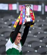 22 November 2020; Conor Sweeney, the Tipperary captain, lifts the cup after the Munster GAA Football Senior Championship Final match between Cork and Tipperary at Páirc Uí Chaoimh in Cork. Photo by Ray McManus/Sportsfile