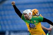 22 November 2020; Davin Flynn of Donegal celebrates scoring his side's second goal during the Nickey Rackard Cup Final match between Donegal and Mayo at Croke Park in Dublin. Photo by Piaras Ó Mídheach/Sportsfile