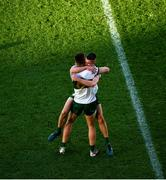 22 November 2020; Steven O'Brien, left, and Michael Quinlivan of Tipperary celebrate after the Munster GAA Football Senior Championship Final match between Cork and Tipperary at Páirc Uí Chaoimh in Cork. Photo by Daire Brennan/Sportsfile