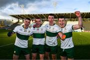 22 November 2020; Tipperary players, from left, Shane Foley, Sean O'Connor, Alan Campbell and Tadhg Fitzgerald celebrate after Munster GAA Football Senior Championship Final match between Cork and Tipperary at Páirc Uí Chaoimh in Cork. Photo by Ray McManus/Sportsfile