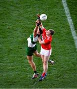 22 November 2020; Colin O'Riordan of Tipperary in action against Mattie Taylor of Cork during the Munster GAA Football Senior Championship Final match between Cork and Tipperary at Páirc Uí Chaoimh in Cork. Photo by Daire Brennan/Sportsfile