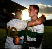 22 November 2020; Colin O'Riordan, 19, and captain Conor Sweeney of Tipperary after the Munster GAA Football Senior Championship Final match between Cork and Tipperary at Páirc Uí Chaoimh in Cork. Photo by Ray McManus/Sportsfile