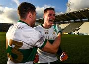 22 November 2020; Philip Austin, 23, and captain Conor Sweeney of Tipperary after the Munster GAA Football Senior Championship Final match between Cork and Tipperary at Páirc Uí Chaoimh in Cork. Photo by Ray McManus/Sportsfile
