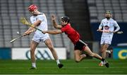 22 November 2020; James Burke of Kildare in action against Liam Savage of Down during the Christy Ring Cup Final match between Down and Kildare at Croke Park in Dublin. Photo by Piaras Ó Mídheach/Sportsfile