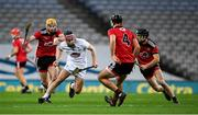 22 November 2020; Cathal Dowling of Kildare in action against Down players, from left, John McManus, Tom Murray, and Liam Savage during the Christy Ring Cup Final match between Down and Kildare at Croke Park in Dublin. Photo by Piaras Ó Mídheach/Sportsfile
