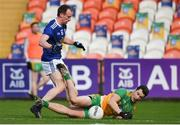 22 November 2020; Eoin McHugh of Donegal in action against Martin Reilly of Cavan during the Ulster GAA Football Senior Championship Final match between Cavan and Donegal at Athletic Grounds in Armagh. Photo by Philip Fitzpatrick/Sportsfile