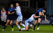 22 November 2020; Harry Byrne of Leinster is tackled by Jason Tovey of Cardiff Blues during the Guinness PRO14 match between Leinster and Cardiff Blues at the RDS Arena in Dublin. Photo by Ramsey Cardy/Sportsfile