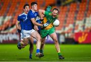 22 November 2020; Michael Murphy of Donegal in action against James Smith of Cavan and Killian Brady of Cavan during the Ulster GAA Football Senior Championship Final match between Cavan and Donegal at Athletic Grounds in Armagh. Photo by Philip Fitzpatrick/Sportsfile