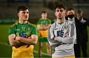 22 November 2020; Niall O'Donnell, left, and Paddy McBrearty of Donegal following the Ulster GAA Football Senior Championship Final match between Cavan and Donegal at Athletic Grounds in Armagh. Photo by David Fitzgerald/Sportsfile