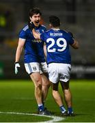 22 November 2020; Oisin Kernan, left, and Conor Smith of Cavan celebrate following the Ulster GAA Football Senior Championship Final match between Cavan and Donegal at Athletic Grounds in Armagh. Photo by David Fitzgerald/Sportsfile