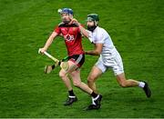 22 November 2020; Paul Sheehan of Down in action against Paul Divilly of Kildare during the Christy Ring Cup Final match between Down and Kildare at Croke Park in Dublin. Photo by Piaras Ó Mídheach/Sportsfile