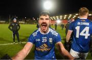 22 November 2020; Conor Smith of Cavan celebrates after winning the Ulster GAA Football Senior Championship Final match between Cavan and Donegal at Athletic Grounds in Armagh. Photo by Philip Fitzpatrick/Sportsfile
