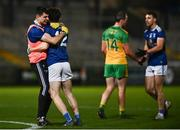 22 November 2020; Cavan players celebrate following the Ulster GAA Football Senior Championship Final match between Cavan and Donegal at Athletic Grounds in Armagh. Photo by David Fitzgerald/Sportsfile