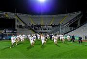 22 November 2020; Kildare players pose for a socially distanced photograph in front Hill 16 after the Christy Ring Cup Final match between Down and Kildare at Croke Park in Dublin. Photo by Piaras Ó Mídheach/Sportsfile