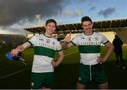 22 November 2020; Paudie Feehan, left, and Liam Casey of Tipperary after the Munster GAA Football Senior Championship Final match between Cork and Tipperary at Páirc Uí Chaoimh in Cork. Photo by Ray McManus/Sportsfile