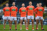 14 November 2020; Armagh players, from left, Greg McCabe, Jamie Clarke, Aidan Forker, Stephen Sheridan and Conor O'Neill ahead of the Ulster GAA Football Senior Championship Semi-Final match between Donegal and Armagh at Kingspan Breffni in Cavan. Photo by Ramsey Cardy/Sportsfile