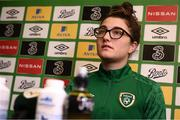 23 November 2020; Keeva Keenan during a Republic of Ireland Women virtual press conference at the Castleknock Hotel in Dublin. Photo by Stephen McCarthy/Sportsfile