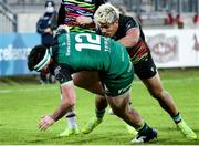 22 November 2020; Tom Daly of Connacht in action against Junior Laloifi of Zebre during the Guinness PRO14 match between Zebre and Connacht at Stadio Lanfranchi in Parma, Italy. Photo by Roberto Bregani/Sportsfile