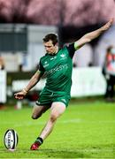 22 November 2020; Jack Carty of Connacht kicks a conversion during the Guinness PRO14 match between Zebre and Connacht at Stadio Lanfranchi in Parma, Italy. Photo by Roberto Bregani/Sportsfile