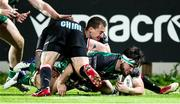22 November 2020; Tom Daly of Connacht in action against Oliviero Fabiani, left, and Michelangelo Biondelli of Zebre during the Guinness PRO14 match between Zebre and Connacht at Stadio Lanfranchi in Parma, Italy. Photo by Roberto Bregani/Sportsfile