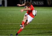 23 November 2020; Ben Healy of Munster scores a penalty during the Guinness PRO14 match between Glasgow Warriors and Munster at Scotstoun Stadium in Glasgow, Scotland. Photo by Bill Murray/Sportsfile