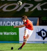 23 November 2020; Ben Healy of Munster shoots to score a conversion during the Guinness PRO14 match between Glasgow Warriors and Munster at Scotstoun Stadium in Glasgow, Scotland. Photo by Bill Murray/Sportsfile