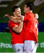 23 November 2020; Jean Kleyn of Munster celebrates with team-mate Gavin Coombes following the Guinness PRO14 match between Glasgow Warriors and Munster at Scotstoun Stadium in Glasgow, Scotland. Photo by Bill Murray/Sportsfile