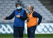 22 November 2020; Kildare manager David Herity, left, with his selector Declan O'Toole before the Christy Ring Cup Final match between Down and Kildare at Croke Park in Dublin. Photo by Piaras Ó Mídheach/Sportsfile