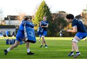 25 November 2020; Liam Turner, left, and Alex Soroka during Leinster Rugby squad training at UCD in Dublin. Photo by Ramsey Cardy/Sportsfile