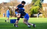 25 November 2020; Alex Soroka, left, and Andrew Smith during Leinster Rugby squad training at UCD in Dublin. Photo by Ramsey Cardy/Sportsfile