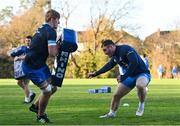 25 November 2020; Charlie Ryan, left, and Peter Dooley during Leinster Rugby squad training at UCD in Dublin. Photo by Ramsey Cardy/Sportsfile
