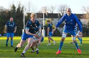 25 November 2020; Jamie Osborne, left, and Devin Toner during Leinster Rugby squad training at UCD in Dublin. Photo by Ramsey Cardy/Sportsfile