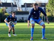 25 November 2020; David Hawkshaw, left, and Ross Molony during Leinster Rugby squad training at UCD in Dublin. Photo by Ramsey Cardy/Sportsfile